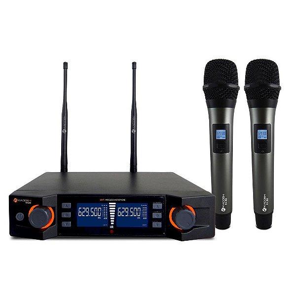 Microfone sem Fio de Mão Duplo Kadosh K-492M