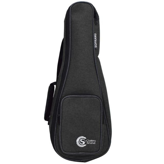 Capa Ukulelê Soprano Custom Sound Confort Black