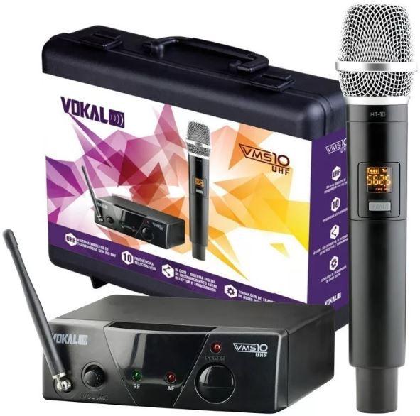 Microfone sem Fio de Mão Vokal VMS-10
