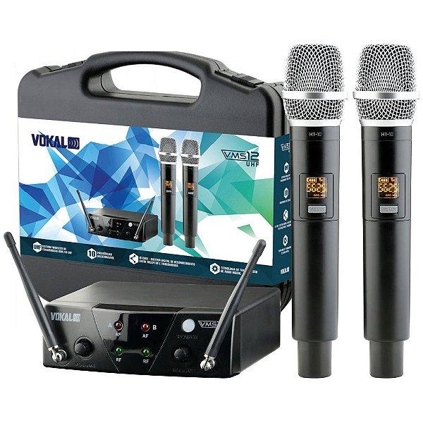 Microfone sem Fio de Mão Duplo Vokal VMS-12