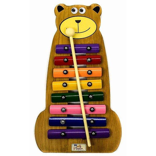 Metalofone Urso Colorido Jog P2236
