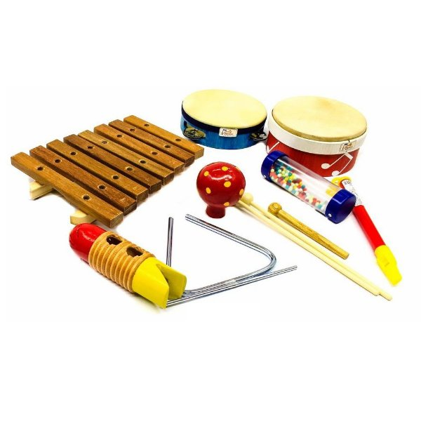 Pequena Percussão 8 peças JOG Music P3661