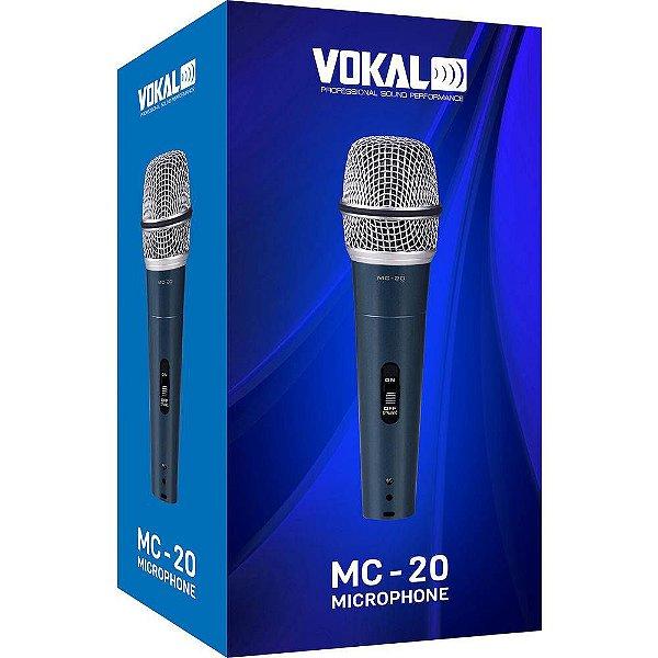 Microfone de Mão Vokal MC-20