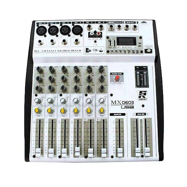 Mesa de Som 06 Canais Staner MX0603 USB 45726