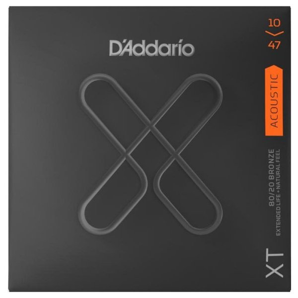 Encordoamento Violão Aço .010 D'Addario Extra Light XTABR 1047