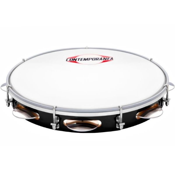 "Pandeiro 10"" Contemporânea Fórmica Nylon Light 83LT PT"