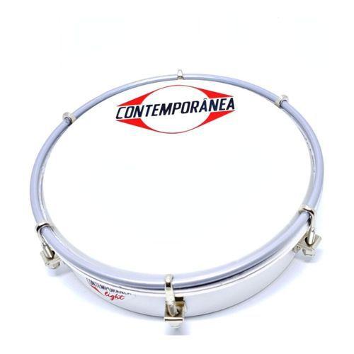 """Tamborim 6"""" Contemporânea Alumínio com Baqueta 206LT"""