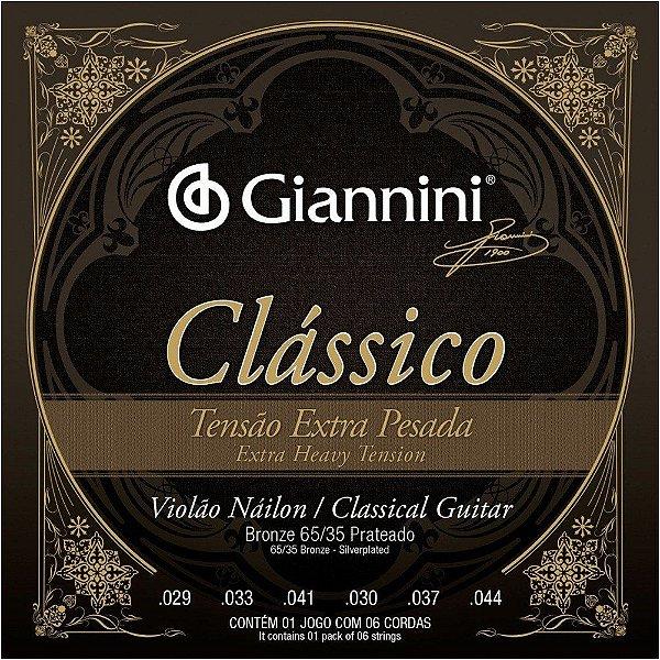 Encordoamento Violão Nylon Giannini .029 Tensão Extra Pesada Clássica