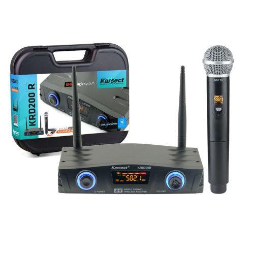 Microfone sem Fio de Mão Karsect KRD200R Recarregável