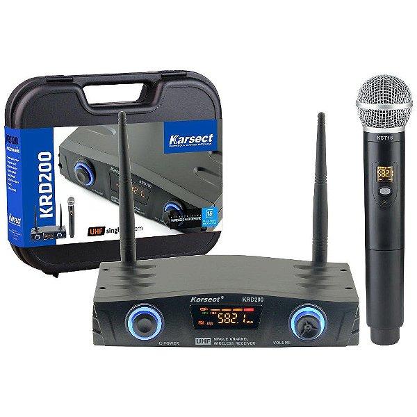Microfone sem Fio de Mão Karsect KRD200SM