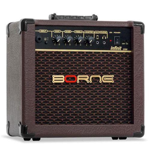 Amplificador Violão Borne Infinit CV60 Marrom 15W