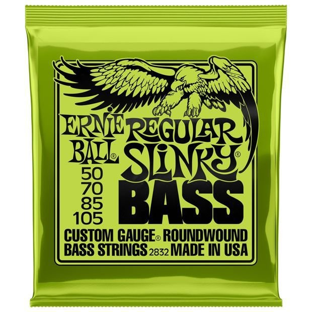 Encordoamento Contrabaixo 4 Cordas Regular Slinky Bass .050 Ernie Ball 2832