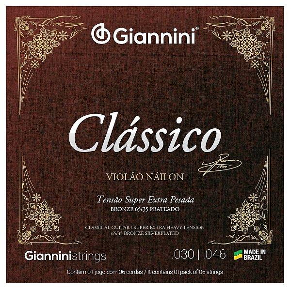 Encordoamento Violão Nylon Giannini .030 Tensão Super Extra Pesada Clássica