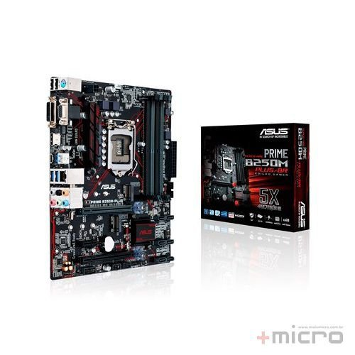 Placa-mãe Asus PRIME B250M-PLUS/BR