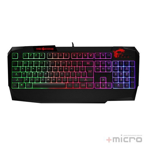 Teclado gamer multimídia USB msi Interceptor DS4200