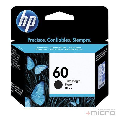 Cartucho de tinta HP 60 (CC640WB) preto 4,5 ml