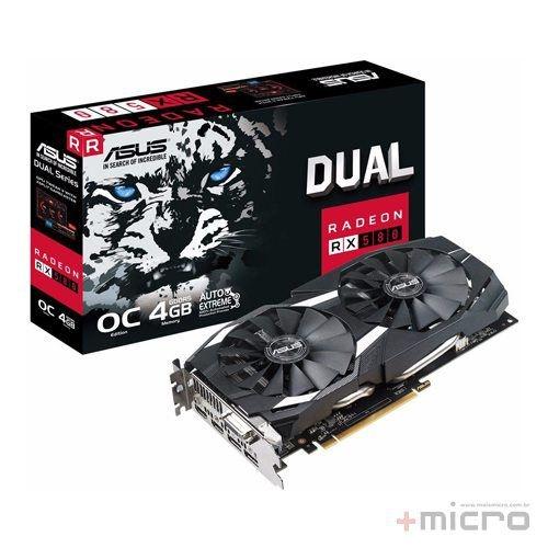 Placa de vídeo PCI-E Asus AMD Radeon RX 580 4 Gb GDDR5 256 Bits