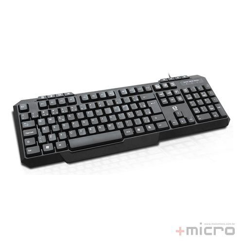 Teclado multimídia USB C3 Tech KB-M20BK