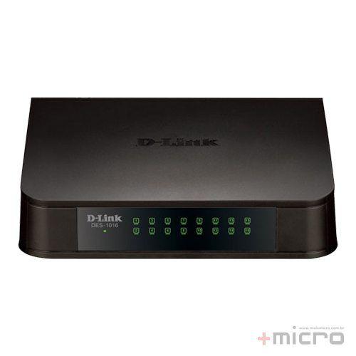 Switch Ethernet 16 portas 10/100 Mbps D-Link DES-1016A