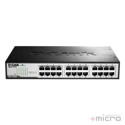 Switch Ethernet 24 portas para rack Gigabit D-Link DGS-1024D