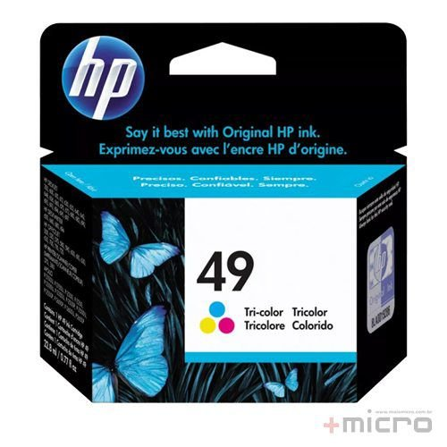 Cartucho de tinta HP 49 (51649A) colorido 22,8 ml