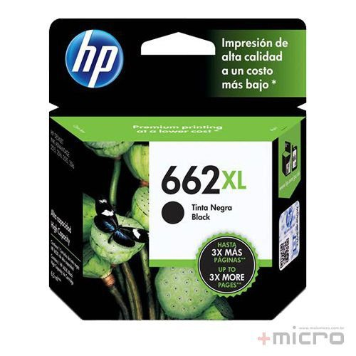 Cartucho de tinta HP 664XL (F6V31AB) preto 6,5 ml