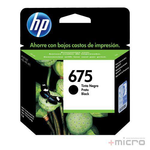 Cartucho de tinta HP 675 (CN690AL) preto 13,5 ml