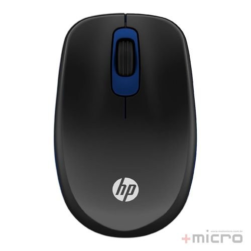 Mouse wireless USB HP Z3600 (F7M62AA) preto/azul