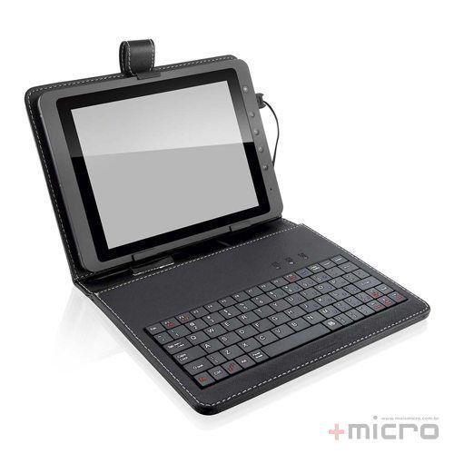 "Mini teclado para tablet 10"" com case + suporte Multilaser TC171"