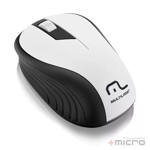 Mouse Wireless USB Multilaser MO216 preto/branco