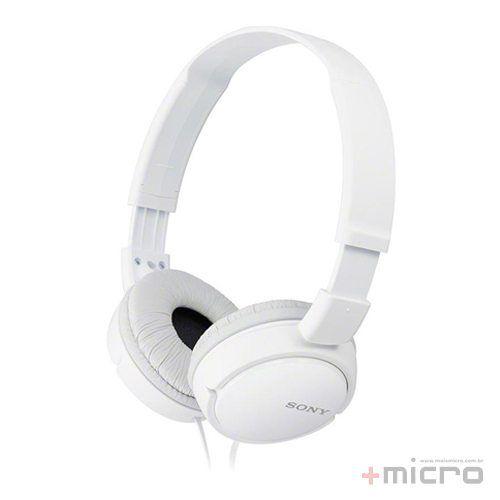 Fone de ouvido Sony MDR-ZX110/WCAE branco