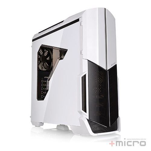 Gabinete gamer Thermaltake Snow Versa N21 branco led azul