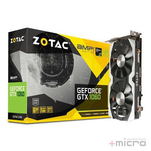 Placa de vídeo PCI-E Zotac nVIDIA GTX 1060 6 Gb GDDR5 192 Bits