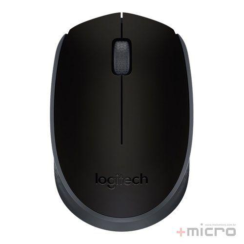 Mouse wireless USB Logitech m170 preto