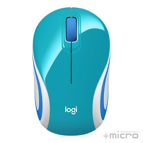 Mouse wireless USB Logitech verde água