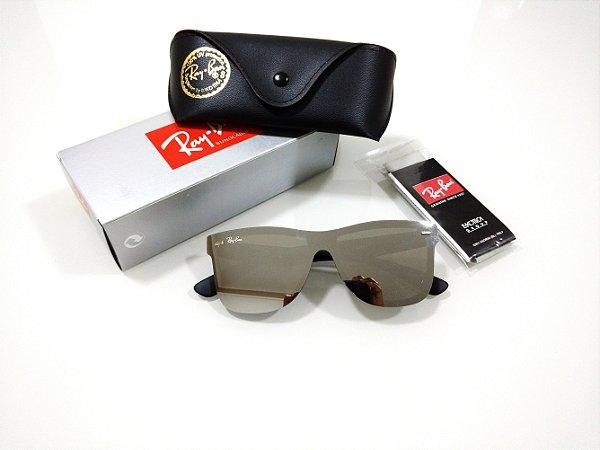 30e5bea928c95 Óculos de Sol Ray-Ban Blaze Wayfarer Espelhado Prata Quadrado Masculino e  Feminino