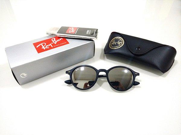 75d63fd06da3c Óculos de Sol Ray-Ban Round Fosco Espelhado Prata Masculino e Feminino  Redondo