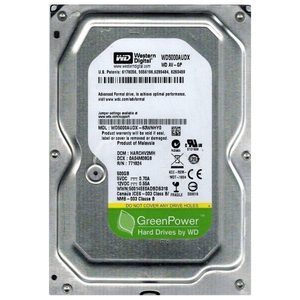 HD Western Digital Green 500GB 7200RPM