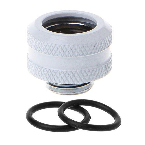 Water Cooler Fitting Compression Branco Barrow p/ Tubo Rígido OD 14mm