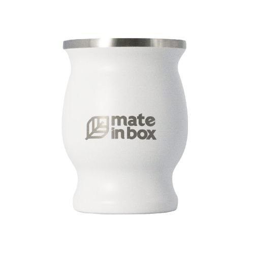 Cuia Térmica Guayrá Branca 250ml - Mate in Box