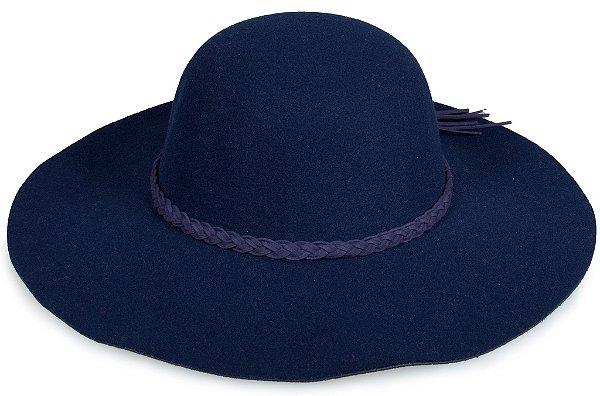 Chapéu Floppy Aba Grande Azul Marinho