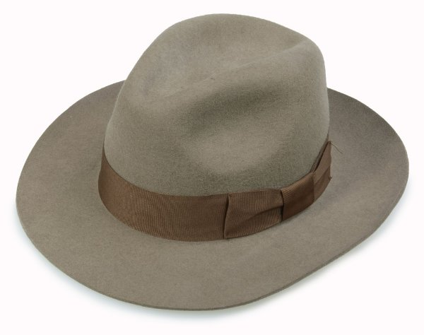 Chapéu Fedora Caqui 100% Lã Aba 7cm Premium Hats