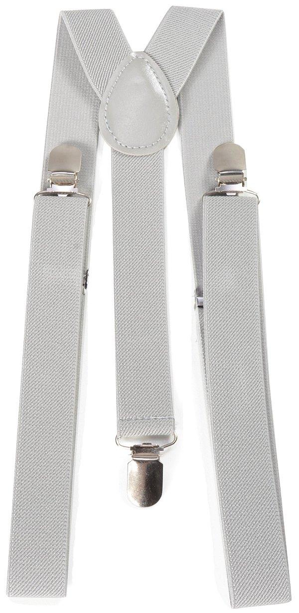 Suspensório Unissex Cinza Claro 2,5cm