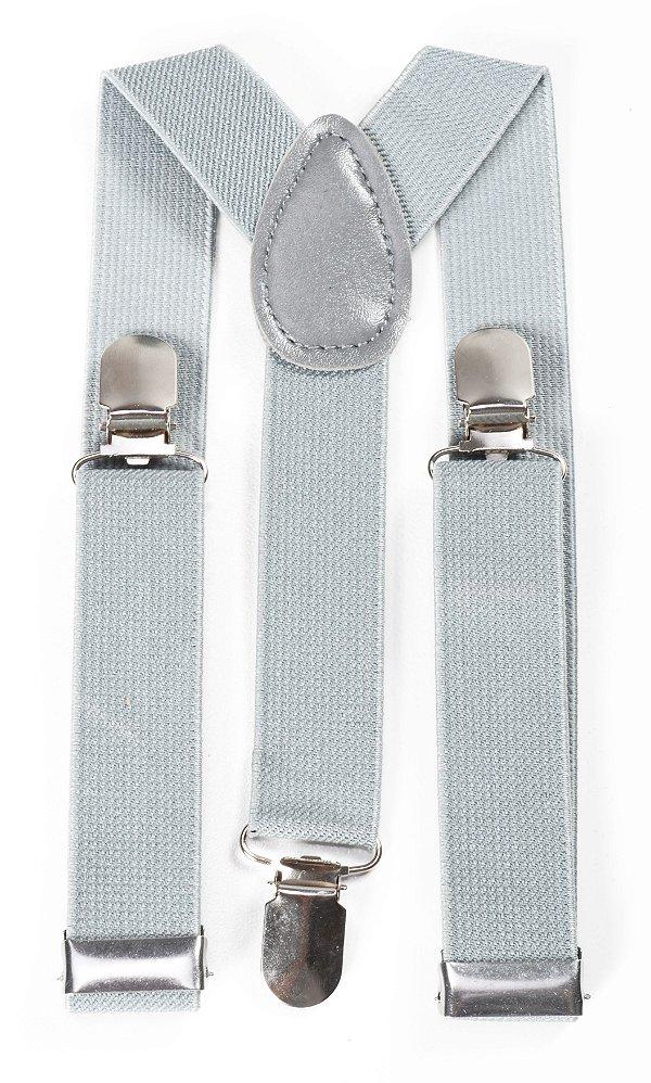 Suspensório Infantil Cinza Fino 2,5cm