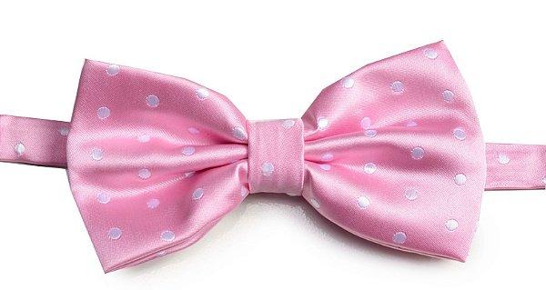 Gravata Borboleta Rosa Vintagê