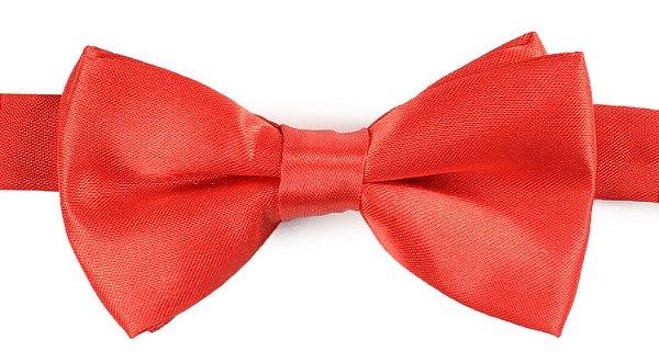 Gravata Borboleta Lisa Vermelha Pequena