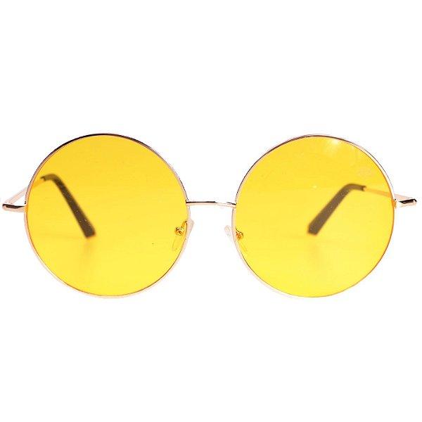 Óculos Tree Unissex Redondo Amarelo - Compre com quem é especialista ... 5c259db0fc