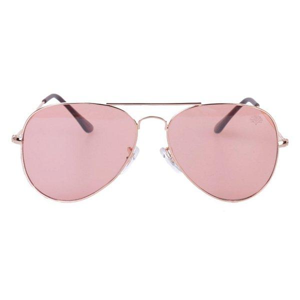 Óculos Tree Aviator Rosa Transparente