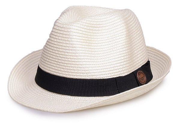 Chapéu de Palha Creme Aba curta Verão