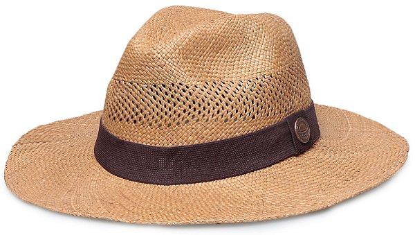 Chapéu Panamá Aba Grande  Caramelo Ventilado